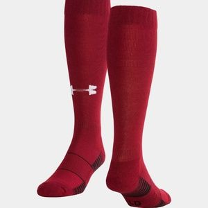 Men's Under Armour Team Over-The-Calf Socks Maroon